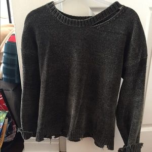 Generation Love Leslie cut out sweater